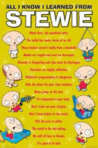 Family Guy All I Know I Learned From Stewie Poster