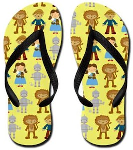 Wizard Of OZ Flip Flops