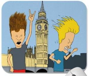Beavis And Butt-Head Headbanging In London Mousepad