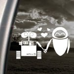 Wall-E And Eve Window Decal