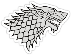 Game Of Thrones House Stark Logo Sticker