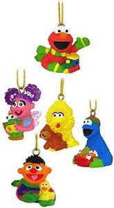 Sesame Street Christmas Ornament Set
