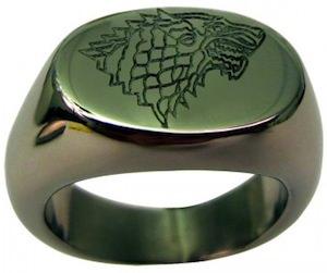 Game Of Thrones House Stark Logo Ring