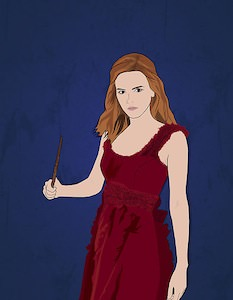 Harry Potter Poster Of Hermione With Her Wand