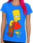 Bart Simpson And His Skateboard T-Shirt