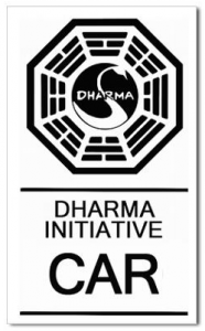 Lost Dharma Initiative Car Sticker