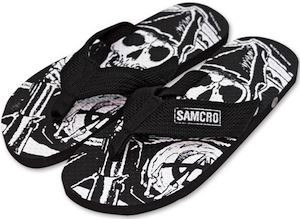 Sons Of Anarchy Samcro Flip Flops