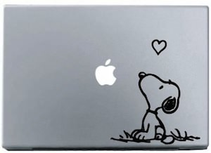 Snoopy Love Laptop Decal