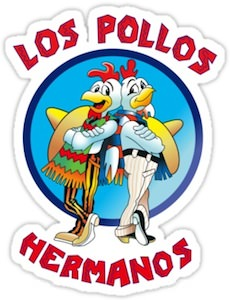 Breaking Bad Los Pollos Hermanos logo Sticker