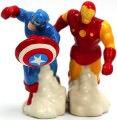Captain America And Iron Man Salt And Pepper Shaker Set