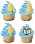 despicable me cupcake rings shaped like minions