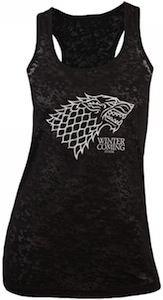Game Of Thrones Stark logo women's tank top t-shirt