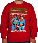 Batman & Superman Christmas Sweater