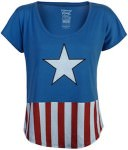 Captain America Star And Stripes Women's T-Shirt