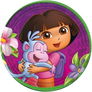 Dora And Boots Paper Plates