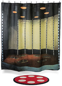 Star Trek Transporter Room Shower Curtain And Bath Mat Set