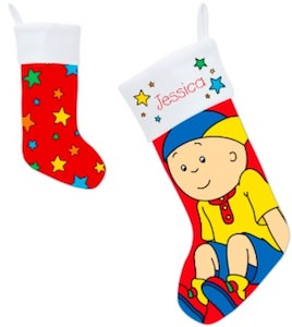 Caillou And Stars Christmas Stocking