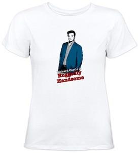 Richard Castle Ruggedly Handsome T-Shirt