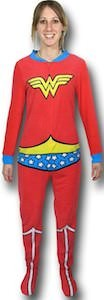 Wonder Woman Costume Footed Pajamas