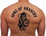 Sons Of Anarchy Reaper Logo Temporary Tattoo