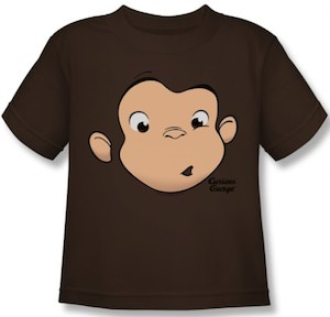 Curious George Brown Monkey Face T-Shirt
