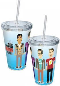 The Big Bang Theory Pixel Cast Cup With Straw