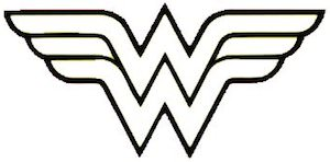 Wonder Woman Logo Vinyl Decal