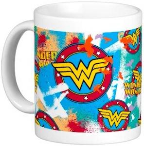 Wonder Woman Logo Collage Mug
