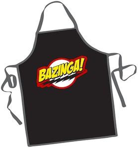The Big Bang Theory Apron with Bazinga logo