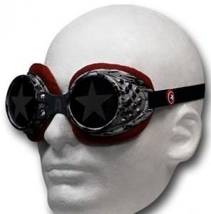 Captain America Silver Star Goggles