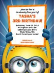 Despicable Me2 Minion Personalized Party Invitation