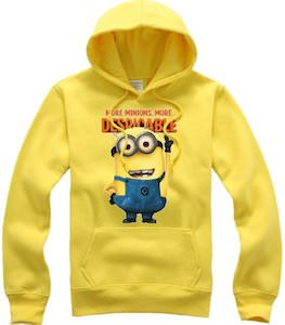 Despicable Me2 Minion Yellow Hoodie