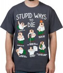 Family Guy Peter Griffin Stupid Ways To Die T-Shirt