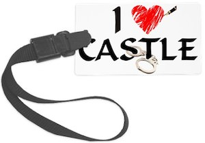 I heart Castle Luggage Tag