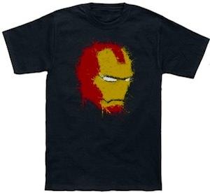Marvel Paint Splatter Iron Man T-Shirt
