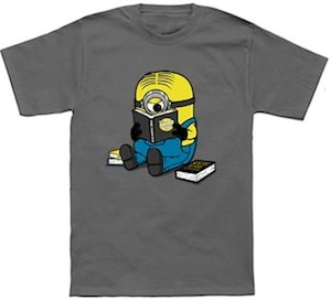 Minion One Eyed Bookworm T-Shirt
