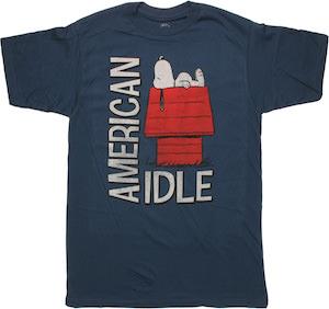 Peanuts Snoopy American Idle T-Shirt