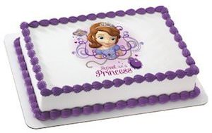 Sofia The First Edible Cake Topper Image