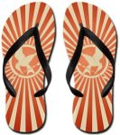 The Hunger Games Vintage Red Mockingjay Flip Flops
