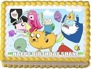 Adventure Time Edible Sheet Cake Topper
