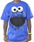 Sesame Street Cookie Monster Face Men's T-Shirt