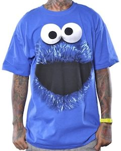 Sesame Street Cookie Monster Face Men's T-Shirt