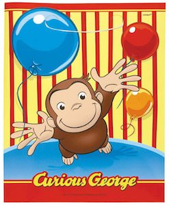 Curious George Party Favor Bags