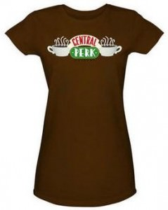 Friends Central Perk Logo Fitted T-Shirt
