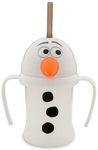Frozen cup shaped like Olaf the Snowman