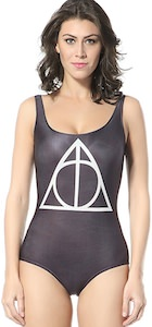 Harry Potter Deathly Hallows Symbol One Piece Swimsuit