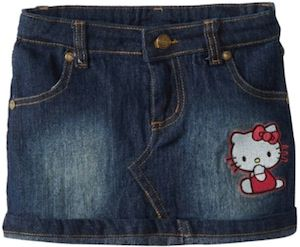 Hello Kitty Girls Denim Skirt