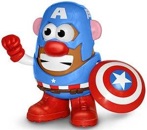 Captain America Mr. Potato Head toy