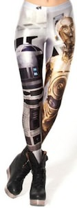 R2D2 and C-3PO leggings