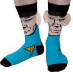 Star Trek socks with spock and his ears